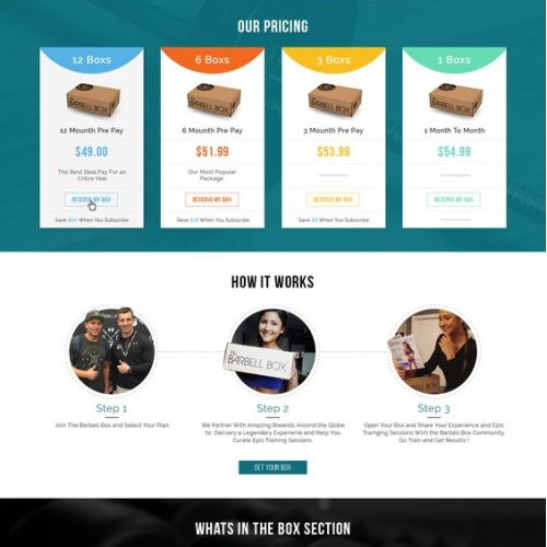 Gym Box Web Site